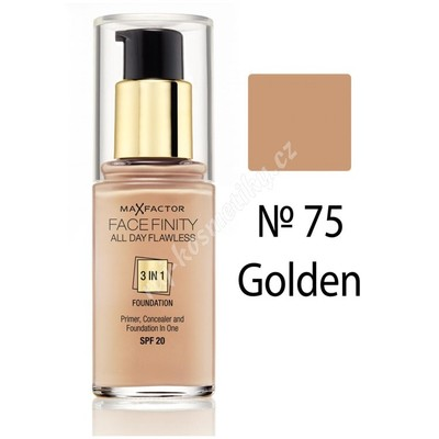 Max Factor Facefinity 3v1 All Day Flawless make-up 75 Golden 30 ml